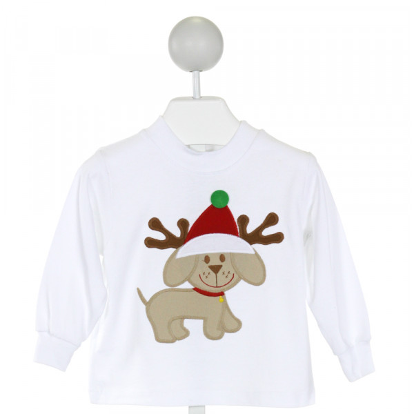 BAILEY BOYS  WHITE   EMBROIDERED KNIT LS SHIRT