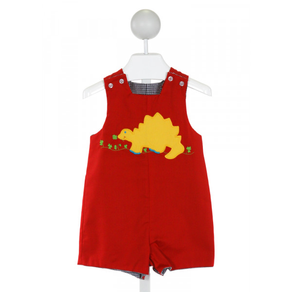 BAILEY BOYS  RED CORDUROY  EMBROIDERED JOHN JOHN/ SHORTALL