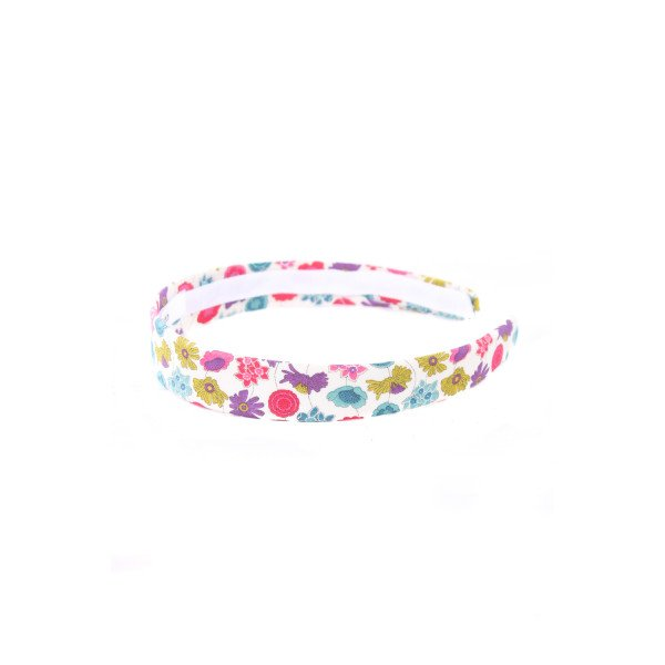 LOLO PINK AND PURPLE LIBERTY FLORAL SKINNY HEADBAND