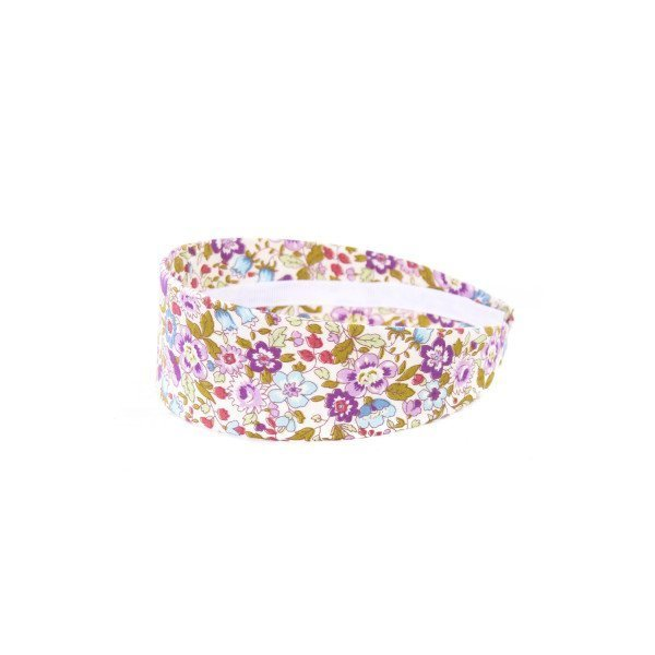 LOLO PURPLE LIBERTY FLORAL WIDE HEADBAND