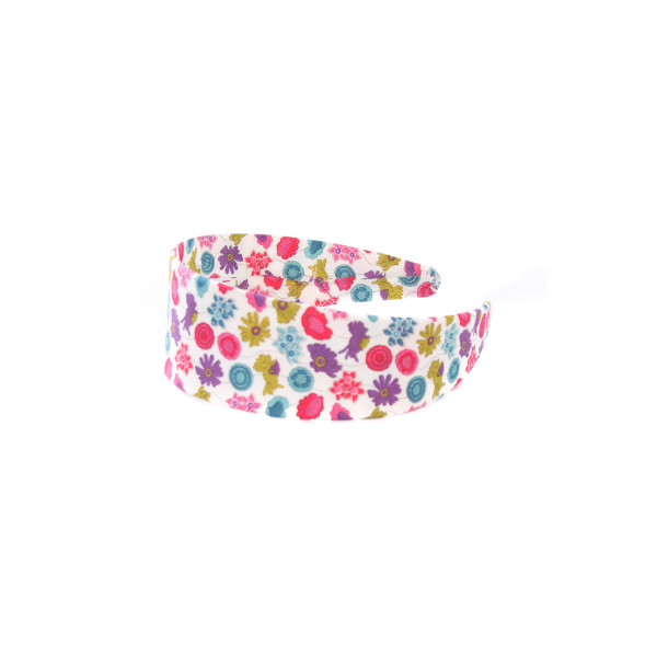 LOLO PURPLE AND PINK LIBERTY FLORAL WIDE HEADBAND