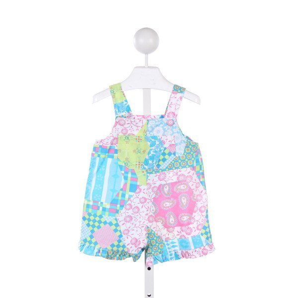 JOGJOG KIDS PINK AND BLUE PATTERNED SHORTALL