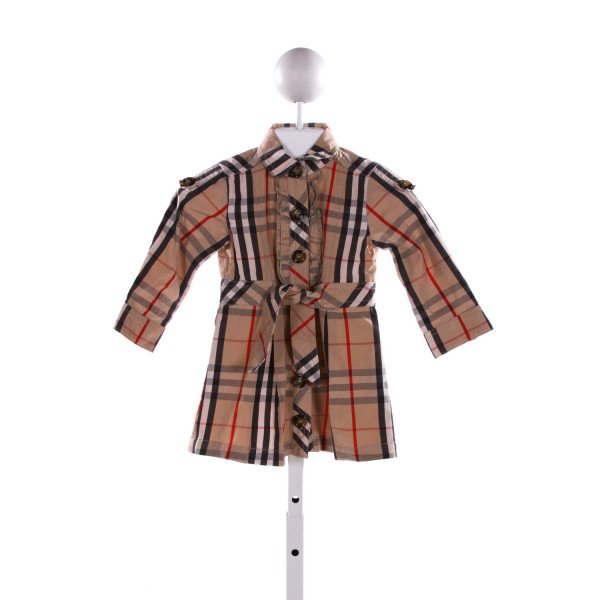 BURBERRY  MULTI-COLOR  PLAID  DRESS WITH RUFFLE