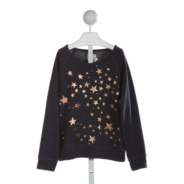 CREWCUTS FACTORY  NAVY   PRINTED DESIGN SWEATER