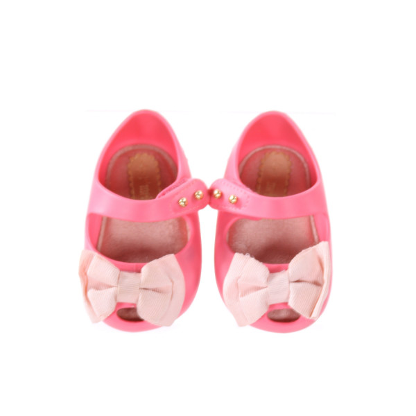 MINI MELISSA PINK SHOES WITH BOW *SIZE INFANT 3, EUC