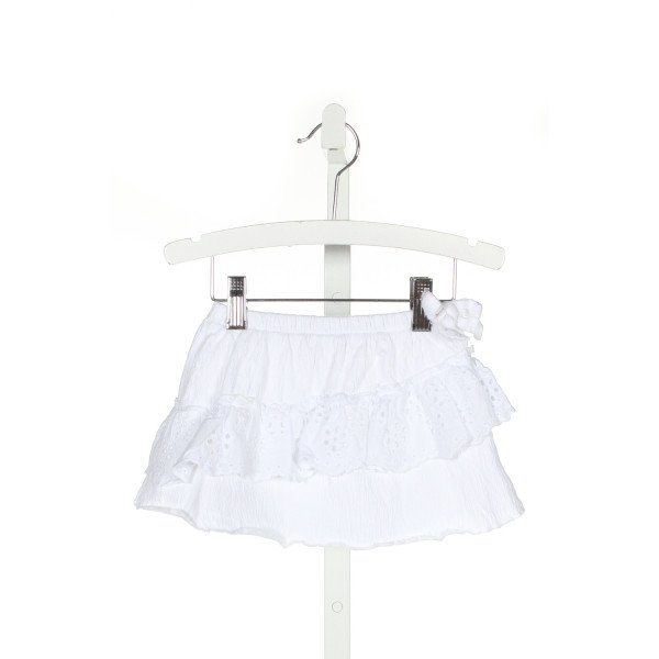 ZARA  WHITE   EMBROIDERED SKIRT WITH RUFFLE