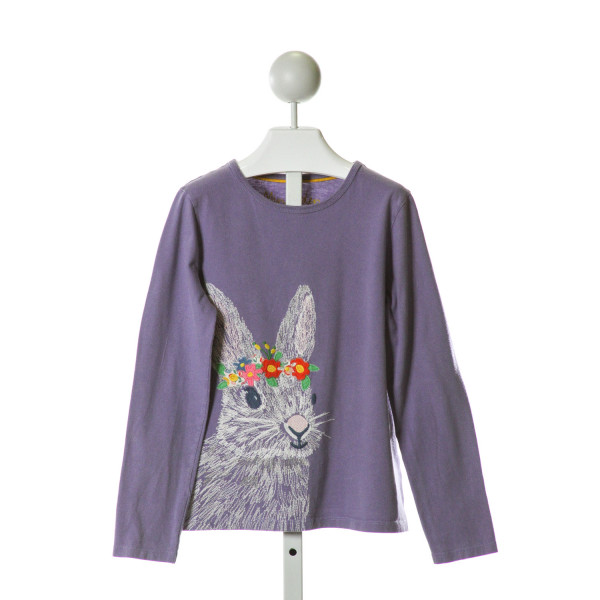 MINI BODEN  PURPLE   EMBROIDERED KNIT LS SHIRT