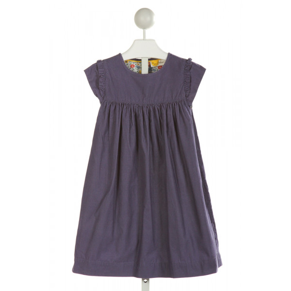 MINI BODEN  PURPLE CORDUROY   DRESS WITH RUFFLE