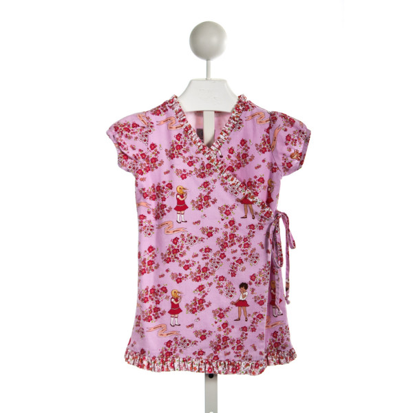 BLESSED BE THE NAME PINK FLORAL WRAP DRESS