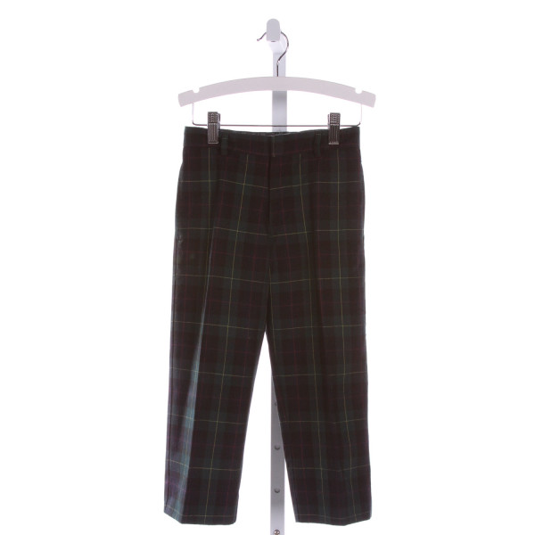 FLORENCE EISEMAN  MULTI-COLOR  PLAID  PANTS