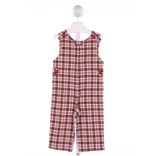 RAGSLAND  MULTI-COLOR  PLAID  LONGALL/ROMPER