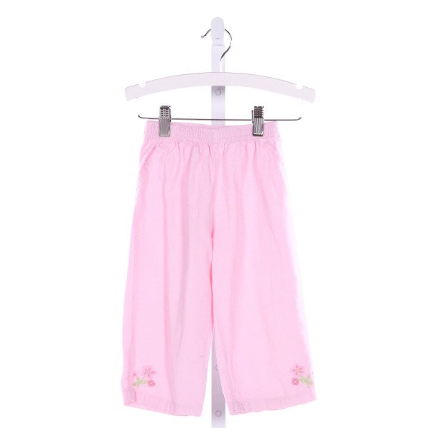 COTTON KIDS  PINK CORDUROY  EMBROIDERED PANTS