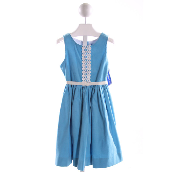 J. BAILEY  LT BLUE CORDUROY  EMBROIDERED DRESS