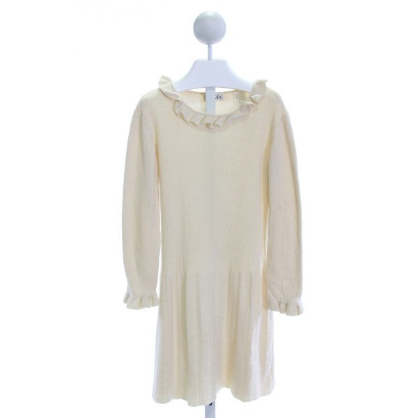 BEST & CO.  IVORY    DRESS WITH RUFFLE
