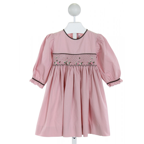 FANTAISIE KIDS  PINK   SMOCKED DRESS WITH RUFFLE