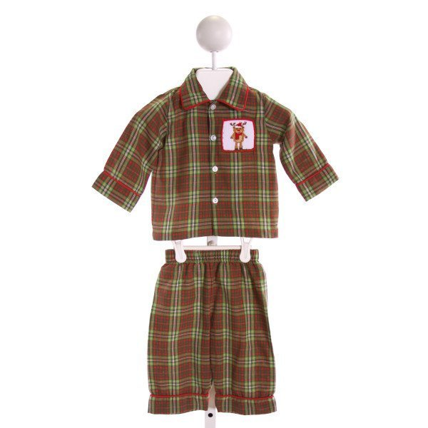 STELLYBELLY  MULTI-COLOR  PLAID SMOCKED 2-PIECE OUTFIT