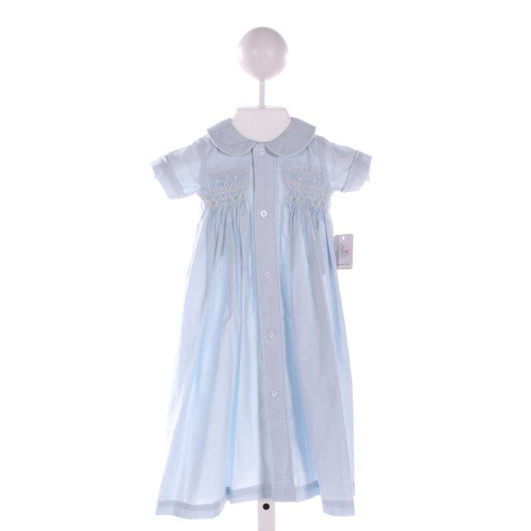 REMEMBER NGUYEN  LT BLUE   SMOCKED DAYGOWN