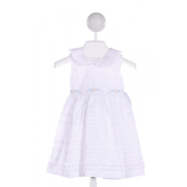 SOPHIE DESS  WHITE   EMBROIDERED DRESS WITH RUFFLE