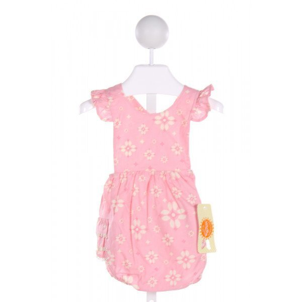 SOUTHERN SUNSHINE KIDS  PINK  FLORAL  BUBBLE WITH RUFFLE