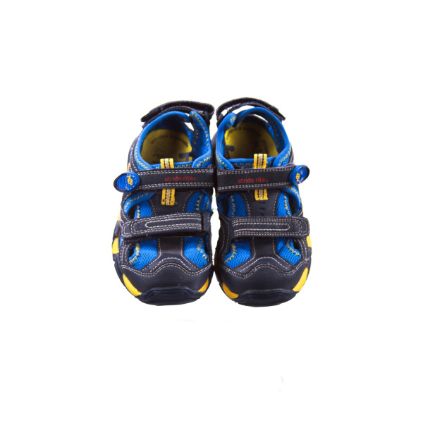 STRIDE RITE BLUE AND YELLOW SANDALS TODDLER SIZE 10.5 *VGUC (LIGHT WEAR)