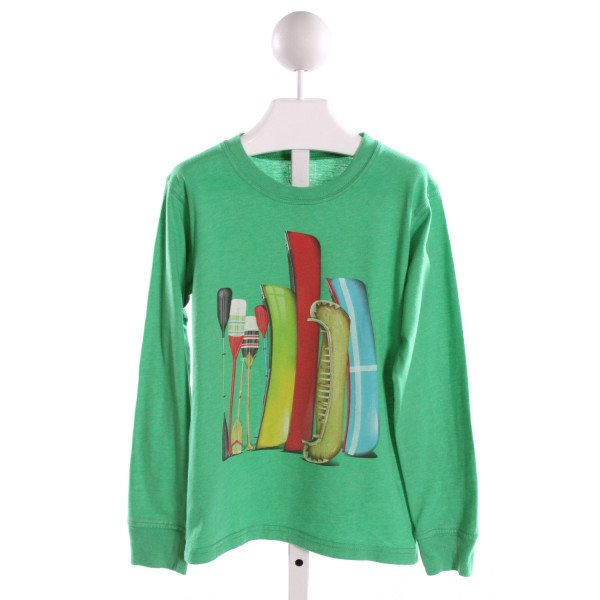 WES AND WILLY  GREEN   PRINTED DESIGN KNIT LS SHIRT