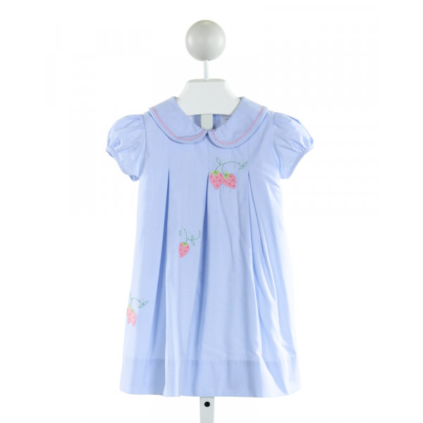 THE PROPER PEONY  LT BLUE   EMBROIDERED DRESS