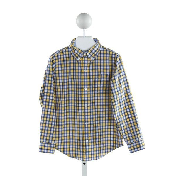 JANIE AND JACK  YELLOW  PLAID  CLOTH LS SHIRT