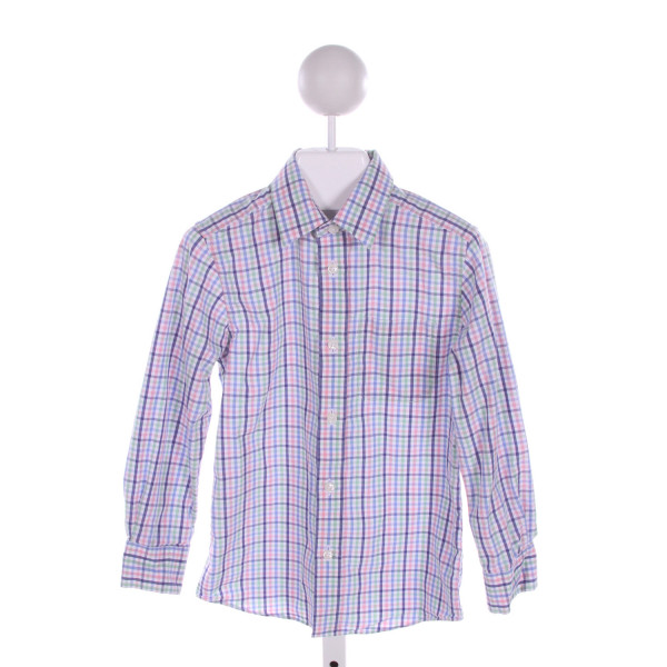 NORDSTROM  MULTI-COLOR  PLAID  CLOTH LS SHIRT