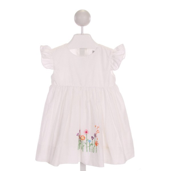 SMOCKINGBIRD  WHITE   EMBROIDERED DRESS WITH RUFFLE