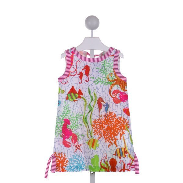 GRETCHEN SCOTT  WHITE  PRINT  DRESS