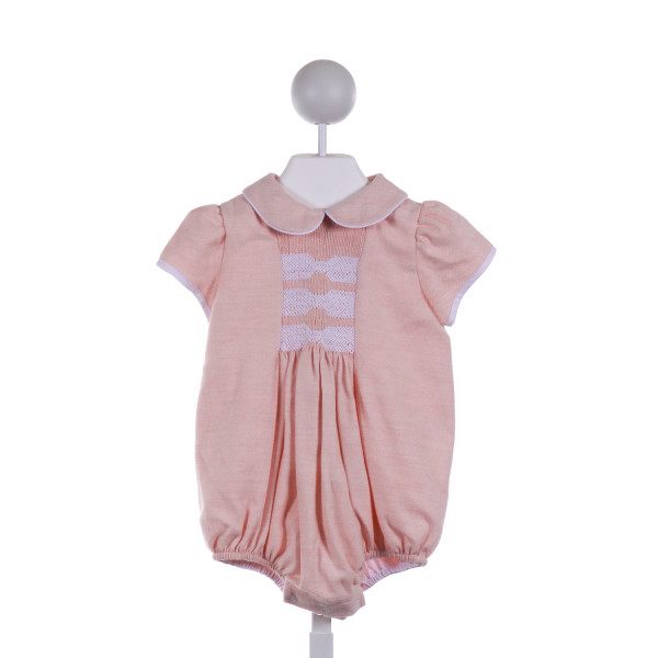 DONDOLO  LT PINK WOOL  SMOCKED BUBBLE