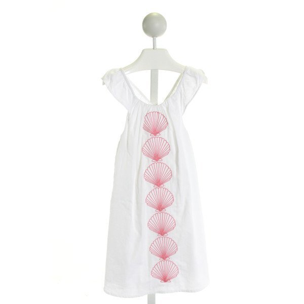 HATLEY  WHITE   EMBROIDERED DRESS WITH RUFFLE