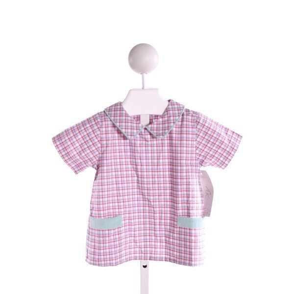 ALICE KATHLEEN  MULTI-COLOR  PLAID  CLOTH SS SHIRT