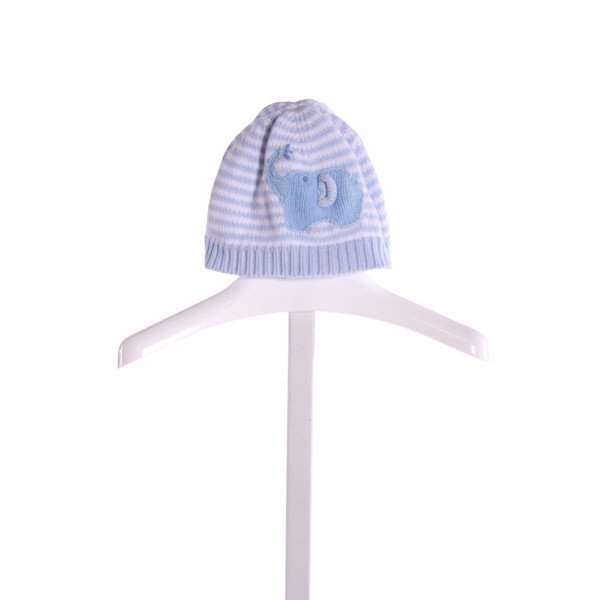 ZUBELS  LT BLUE  STRIPED EMBROIDERED ACCESSORIES - HEADWEAR