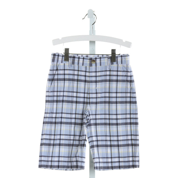JANIE AND JACK  LT BLUE  PLAID  SHORTS