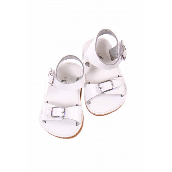 TRIMFOOT CO. WHITE LEATHER SANDALS *SIZE 3 *EUC