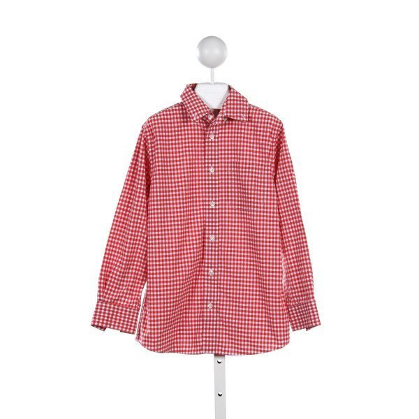 NORDSTROM RED GINGHAM OXFORD TOP