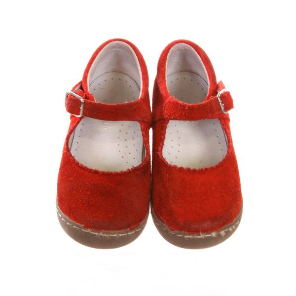 GEPETTO'S RED SHOES *SIZE 25 = SIZE 8.5, VGU - MINOR DISCOLORATION
