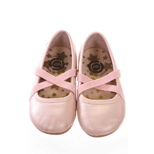 LIVIE AND LUCA PINK SHOES *SIZE 9M, VGU - SLIGHT SCUFFING AND DISCOLORATION ON TOE