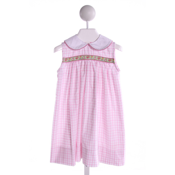 PBJ  PINK  PLAID EMBROIDERED DRESS