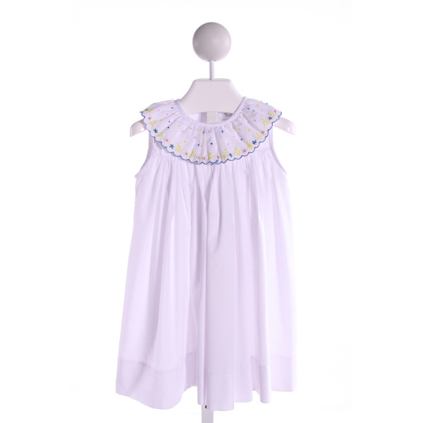 THE PROPER PEONY  WHITE  SWISS DOT EMBROIDERED DRESS