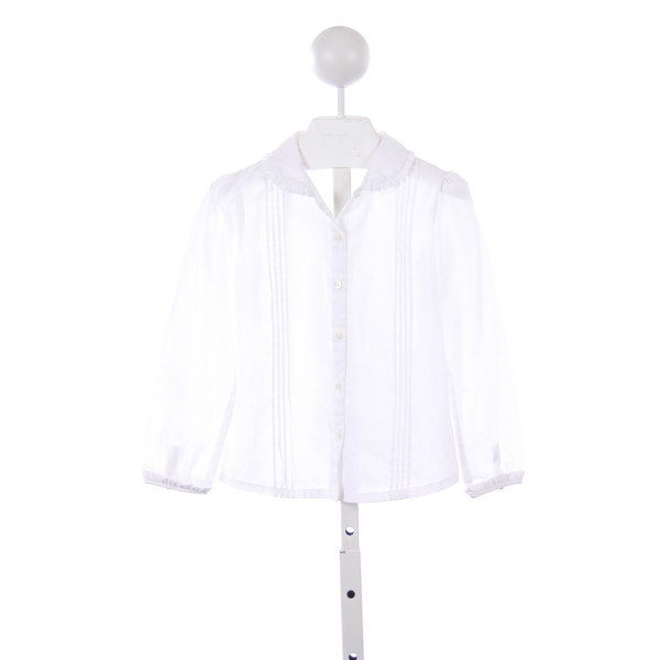 SARAH LOUISE WHITE TOP WITH RUFFLE COLLAR