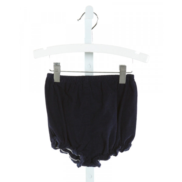 MARY & GRACE  NAVY CORDUROY   BLOOMERS WITH RUFFLE