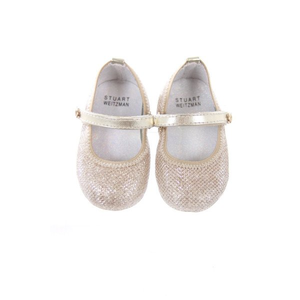 STUART WEITZMAN GOLD SHOES INFANT SIZE 3