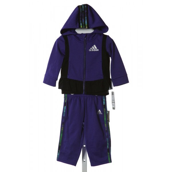 ADIDAS  PURPLE   PRINTED DESIGN 2-PIECE OUTFIT WITH RUFFLE
