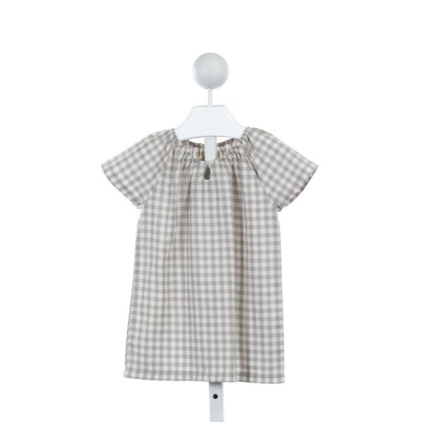 OLIVE JUICE  GRAY  GINGHAM  CLOTH SS SHIRT