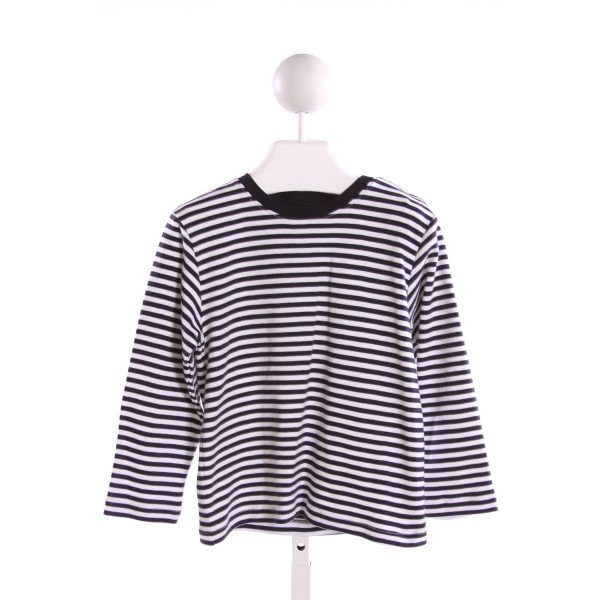 BELLA BLISS  NAVY  STRIPED  KNIT LS SHIRT