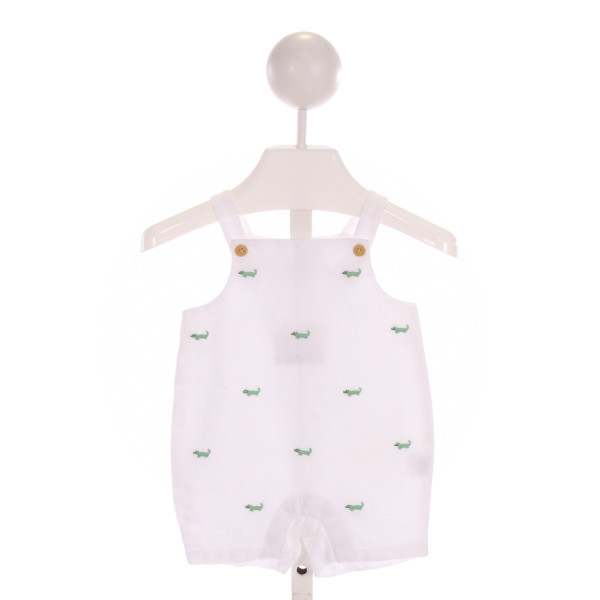 JANIE AND JACK  WHITE   EMBROIDERED JOHN JOHN/ SHORTALL