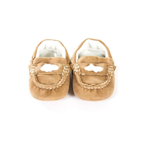MAYORAL NEWBORN TAN SEUDE SHOES INFANT SIZE 0