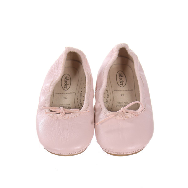 OLD SOLES PINK FLATS *SIZE 7.5, VGU - MINOR DISCOLORATION